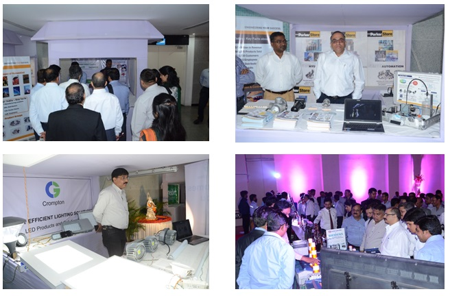 Table top exhibition which showcased energy efficient technologies